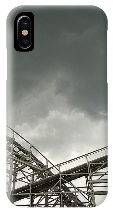 Amusement IPhone X Case featuring the photograph Roller Coaster 3 by Sara Stevenson