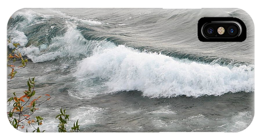 Wave IPhone X Case featuring the photograph Rolling by Kelly Mezzapelle