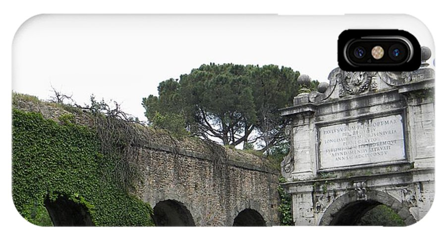 Rome IPhone X Case featuring the photograph Roman Aqueduct by Manuela Constantin