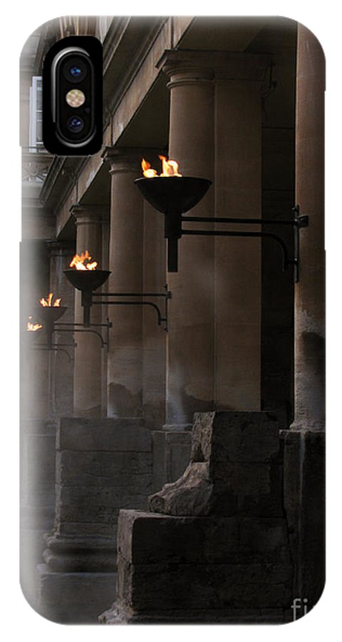Bath IPhone X Case featuring the photograph Roman Baths by Amanda Barcon