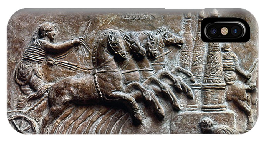 2nd Century IPhone X Case featuring the photograph Roman Relief: Chariot Race by Granger