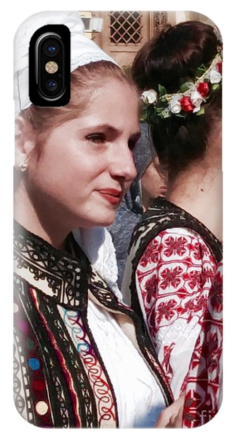 People IPhone X Case featuring the photograph Romanian Beauty - 2 by Mioara Andritoiu