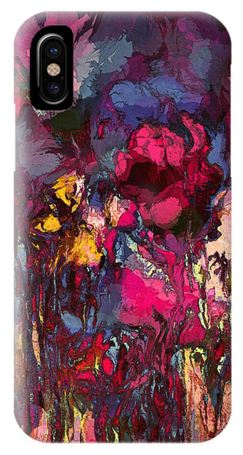 Flowers IPhone X Case featuring the painting Romantic Garden by Natalie Holland