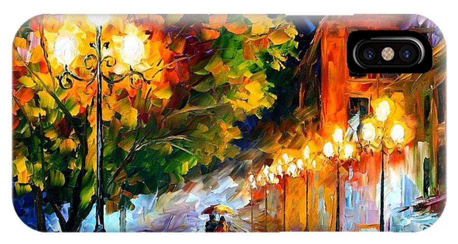 Afremov IPhone X Case featuring the painting Romantic Night by Leonid Afremov