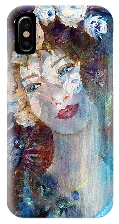 Face IPhone X Case featuring the mixed media Romantic by Robin Monroe