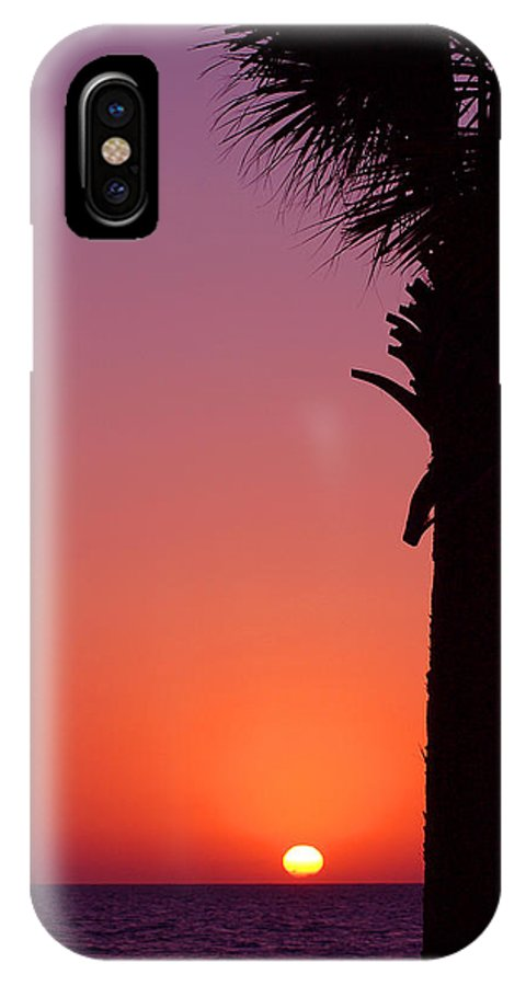 Sunsets IPhone X Case featuring the photograph Romantic Sunset by Susanne Van Hulst