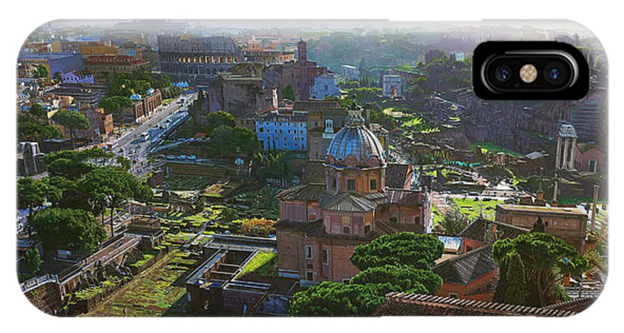 Landscape IPhone X Case featuring the painting Rome by TJ Mueller