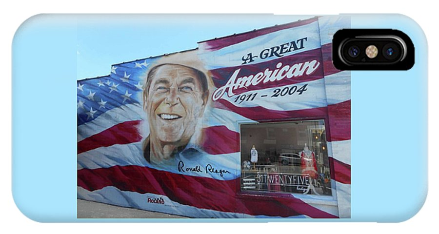 Cookeville IPhone X Case featuring the photograph Ronald Reagan 1 by Ron Kandt