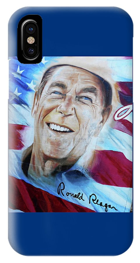 Cookeville IPhone X Case featuring the photograph Ronald Reagan 2 by Ron Kandt