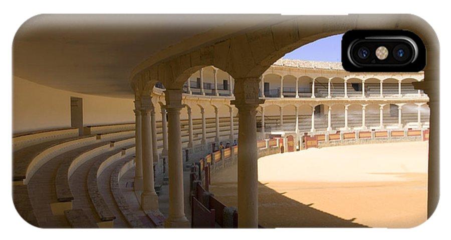 Bullfight IPhone X Case featuring the photograph Ronda Bullring The Real Maestranza De Caballeria by Mal Bray