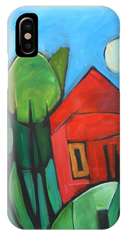 Trees IPhone X Case featuring the painting Root Cellar by Tim Nyberg