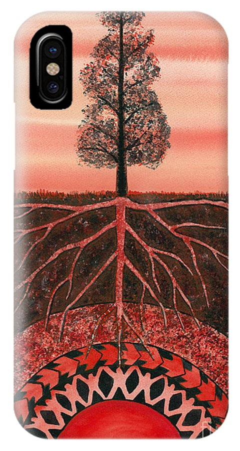 Chakra IPhone X Case featuring the painting Root Chakra by Catherine G McElroy