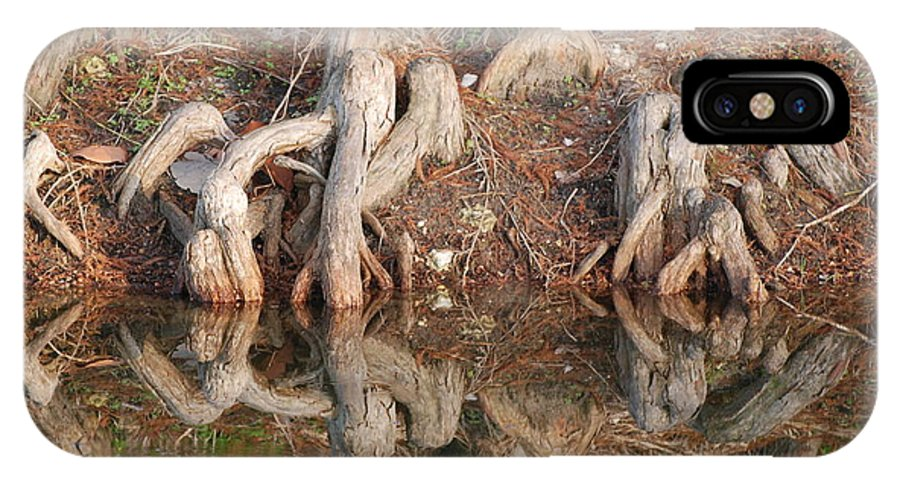 Roots IPhone X Case featuring the photograph Rooted Reflections by Rob Hans