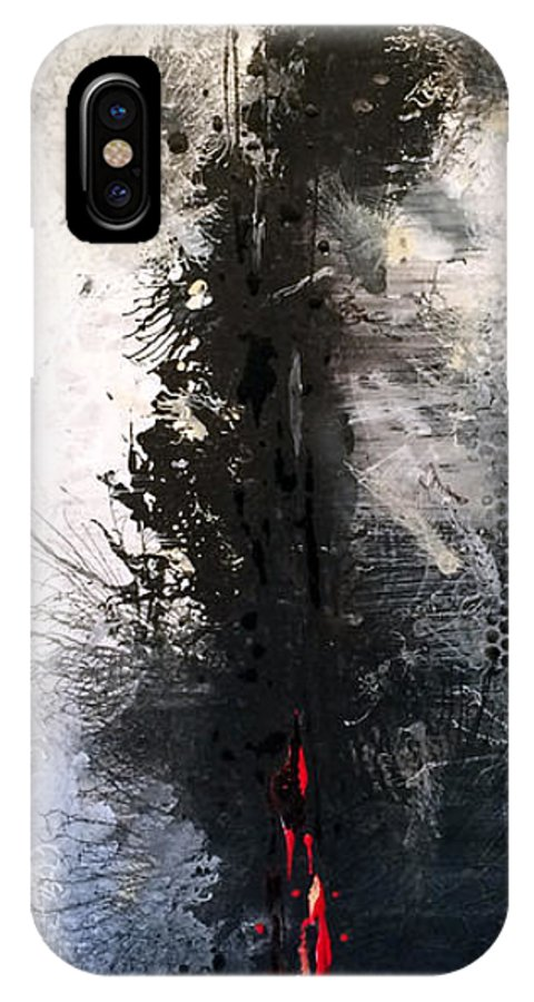 Vertical IPhone X Case featuring the painting Roots and Wings by Jill English