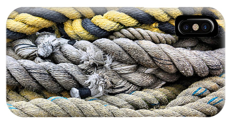 Nautical IPhone X Case featuring the photograph Ropes by Kristin Elmquist