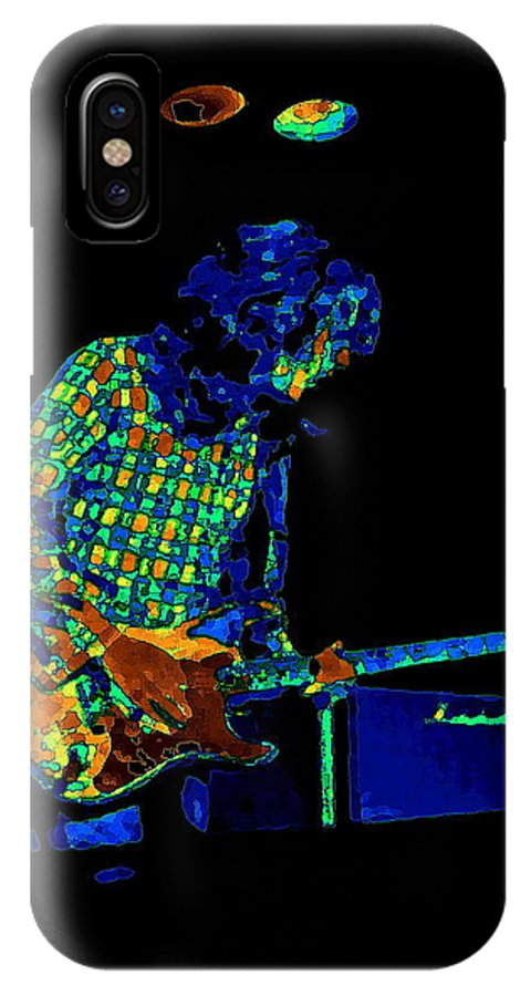 Rock Musicians IPhone X Case featuring the photograph Saturated Blues Rock by Ben Upham