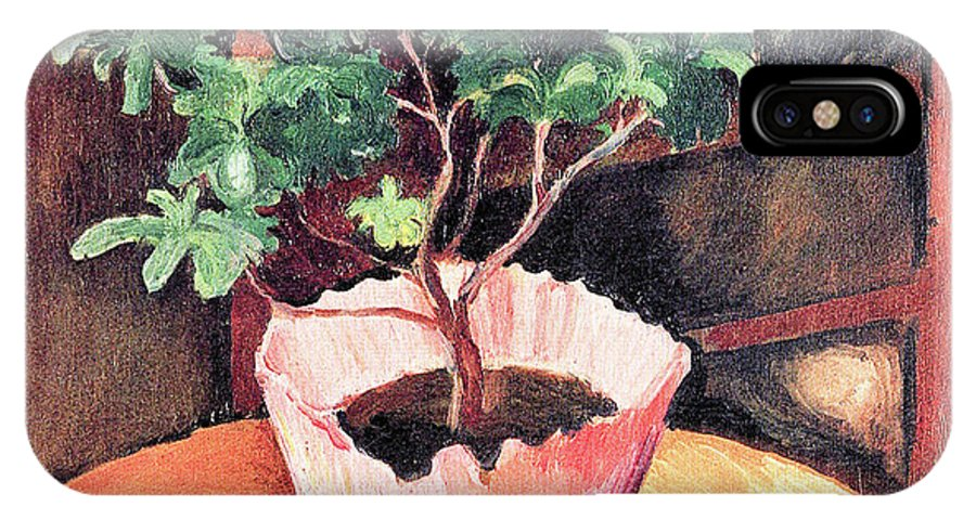 Rose IPhone X Case featuring the painting Rose Azaleas By August Macke by August Macke