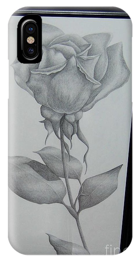 Rose IPhone Case featuring the drawing Rose by Emily Young