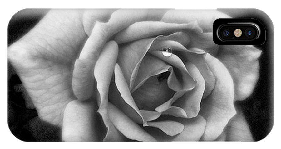 Beautiful IPhone X Case featuring the photograph Rose In Mono. #flower #flowers by John Edwards