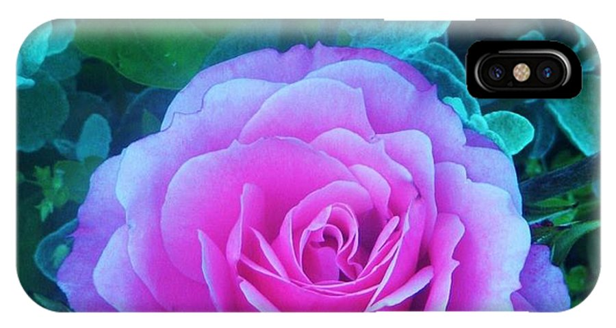 Rose IPhone X Case featuring the photograph Rose Petal Perfection by Daniele Smith