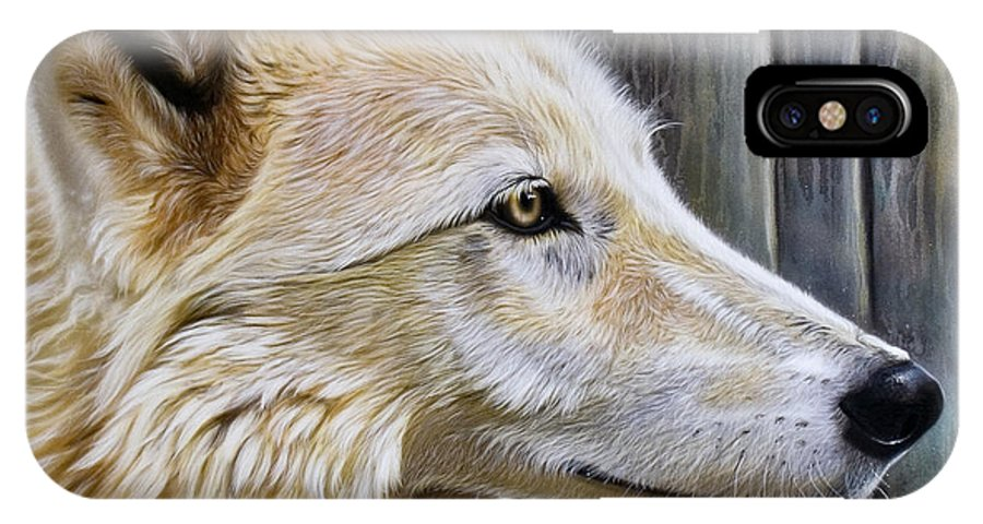 Wolves IPhone Case featuring the painting Rose by Sandi Baker