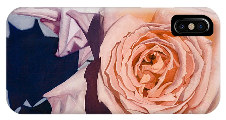Roses IPhone Case featuring the painting Rose Splendour by Kerryn Madsen-Pietsch