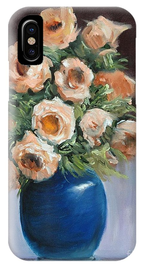 Floral IPhone Case featuring the painting Roses For Ashley by Glenn Secrest