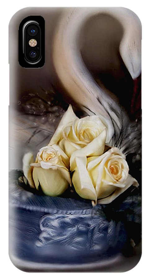 Roses IPhone X / XS Case featuring the painting roses for Susan by Bonnie Willis