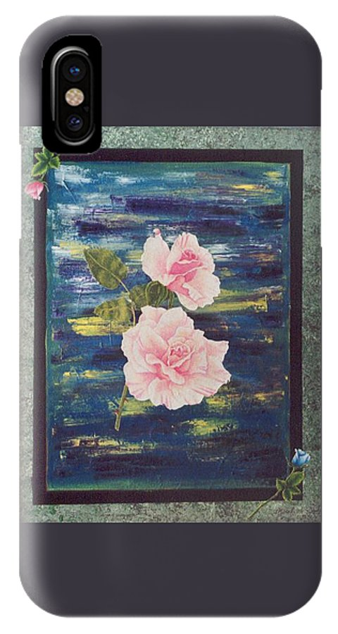 Rose IPhone Case featuring the painting Roses by Micah Guenther