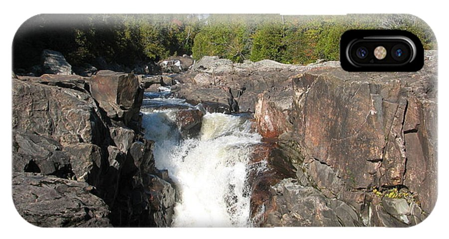 Waterfall IPhone Case featuring the photograph Rosetone Falls by Kelly Mezzapelle
