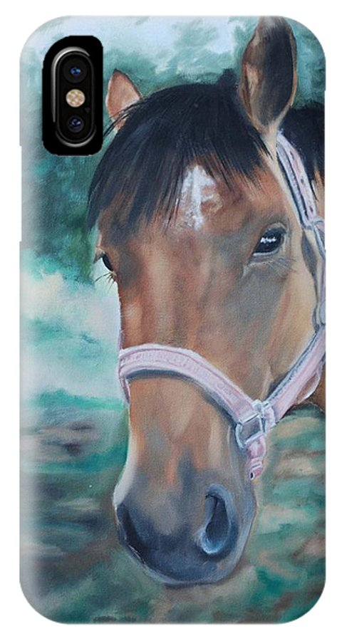 Horse IPhone Case featuring the painting Rosie by Margaret Fortunato