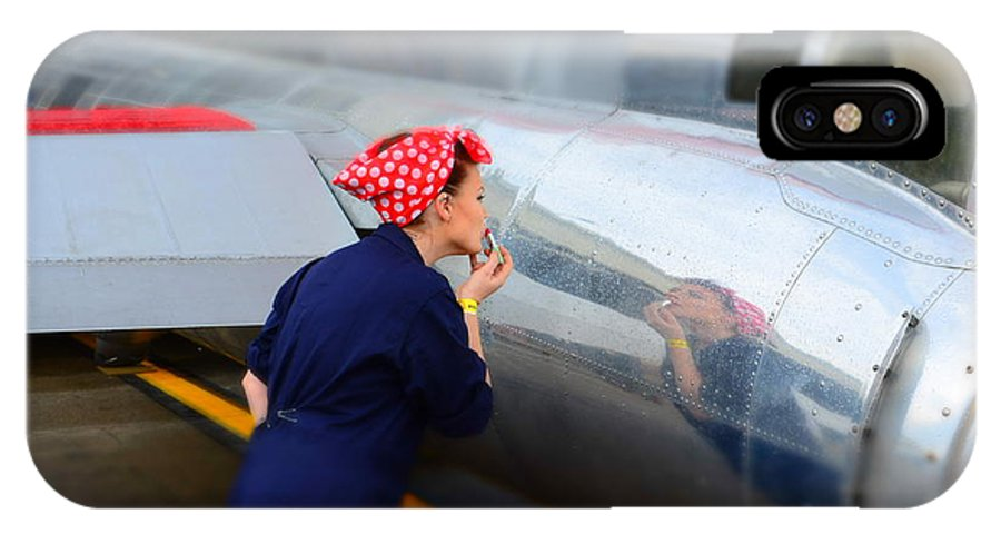 Rosie IPhone X / XS Case featuring the photograph Rosie The Riveter by Richard Greiner