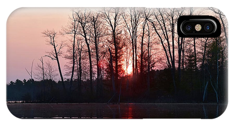Sunrise IPhone X / XS Case featuring the photograph Rosy Sunshine by Jan Mulherin
