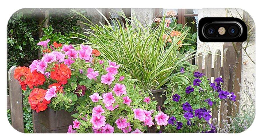 Garden IPhone X Case featuring the photograph Rothenburg Flower Box by Carol Groenen