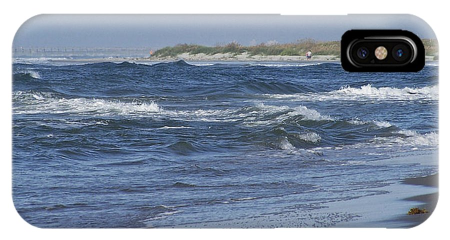Ocean IPhone X Case featuring the photograph Rough Day At The Beach by Teresa Mucha