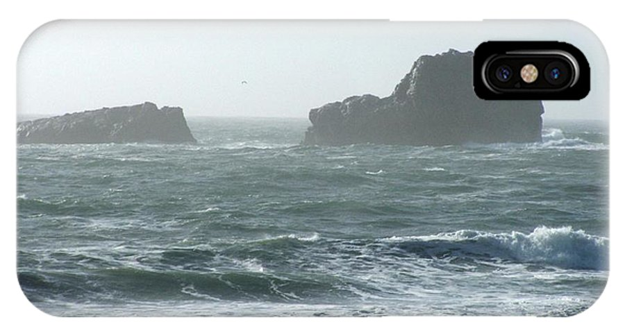 Oceanes IPhone X Case featuring the photograph Rough Waters by Shari Chavira