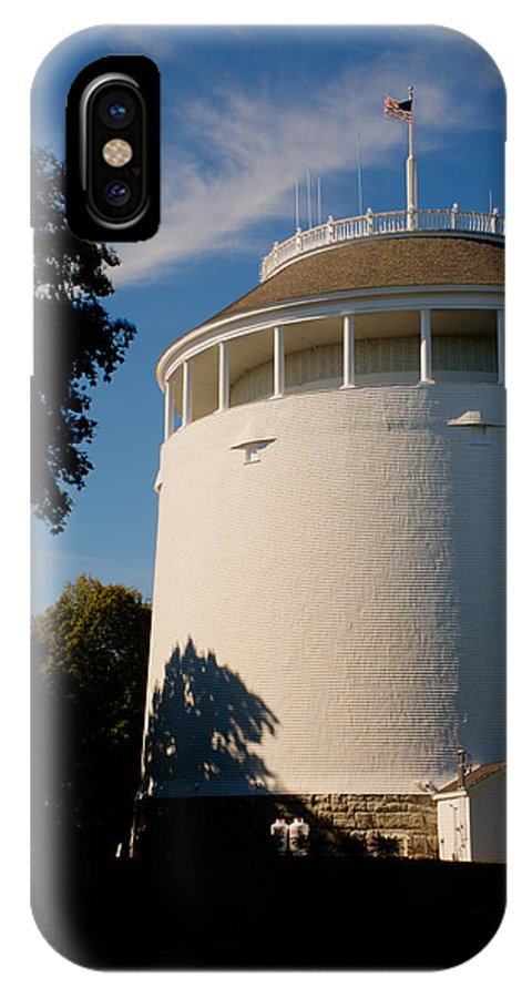 Water IPhone X / XS Case featuring the photograph Round Water Tank In The Sun by Douglas Barnett