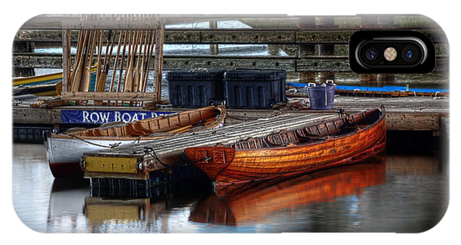 Row IPhone X / XS Case featuring the photograph Row Boat Rental by Rick Mosher