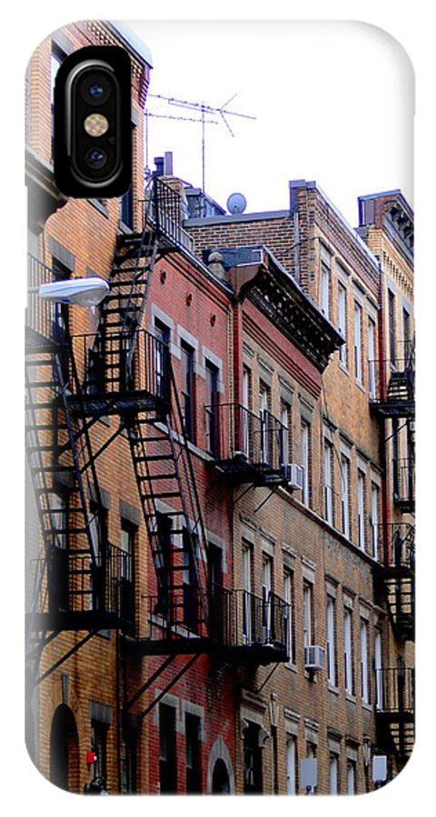 Houses IPhone X Case featuring the photograph Row Houses by Serina Wells
