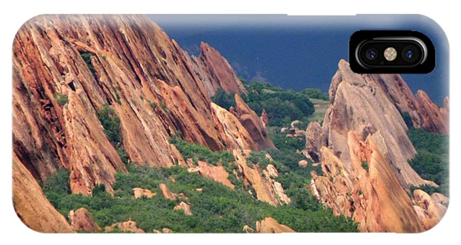 Roxborough State Park Mountains Colorado Rockformation Uplift Rocks Rocky Mountains IPhone X Case featuring the photograph Roxborough State Park by George Tuffy