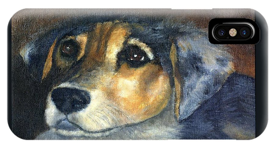 Dog IPhone Case featuring the painting Roxie by Gail Kirtz