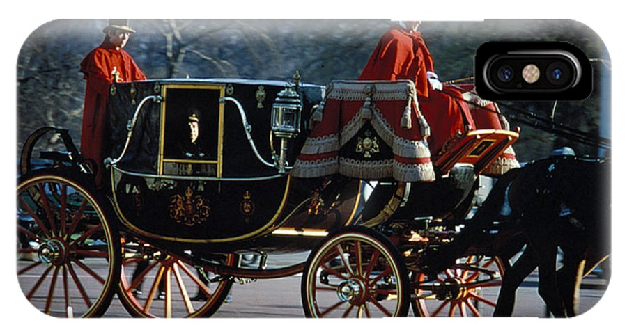 Coach IPhone Case featuring the photograph Royal Carriage In London by Carl Purcell