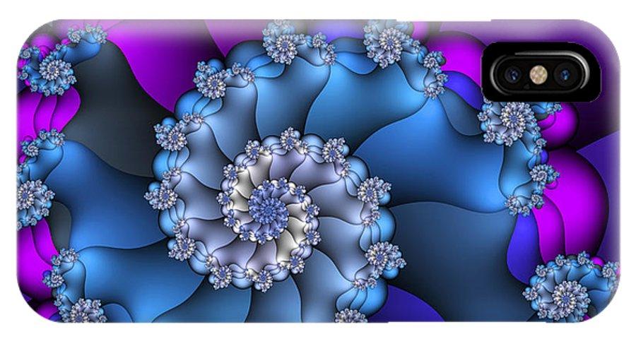Fractal IPhone X Case featuring the digital art Royal Secret by Jutta Maria Pusl