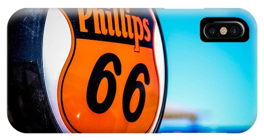 Rt 66 IPhone X Case featuring the photograph Rt. 66 Gas Pump by McKinzi Gulickson