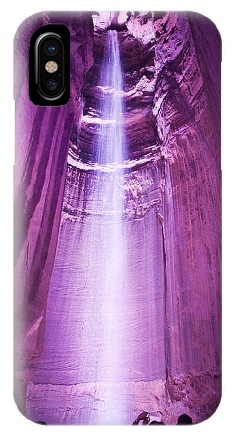 Scenery IPhone X Case featuring the photograph Ruby Falls by Kenneth Albin
