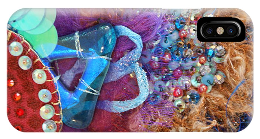 IPhone X Case featuring the mixed media Ruby Slippers 8 by Judy Henninger