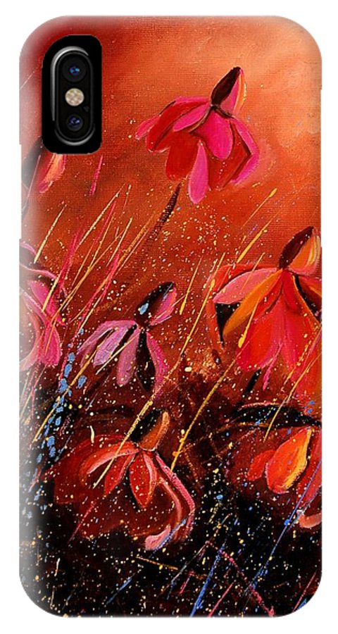 Poppies IPhone Case featuring the painting Rudbeckia's 45 by Pol Ledent