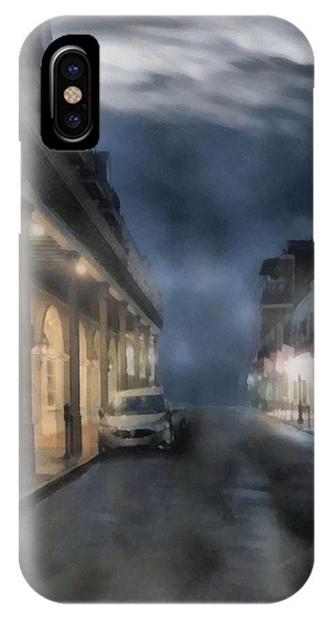 Landscape IPhone X / XS Case featuring the painting Rue Brumeuse by RC DeWinter