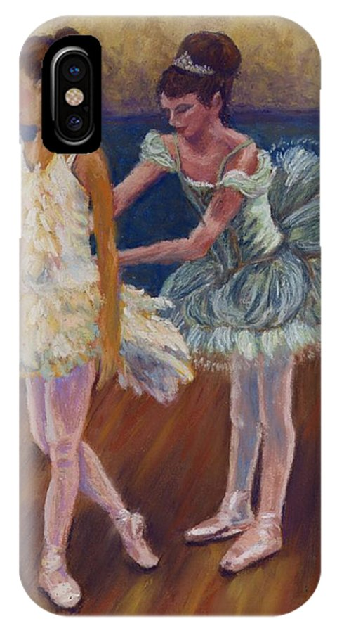 Ballerina IPhone Case featuring the painting Ruffled Feathers by Sharon E Allen