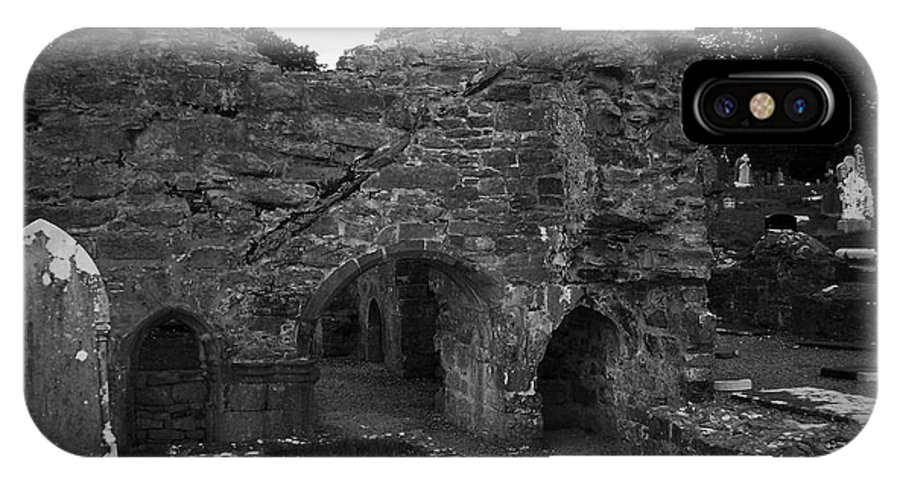 Irish IPhone X Case featuring the photograph Ruins At Donegal Abbey Donegal Ireland by Teresa Mucha